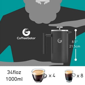 Cafetera con piston coffee gator